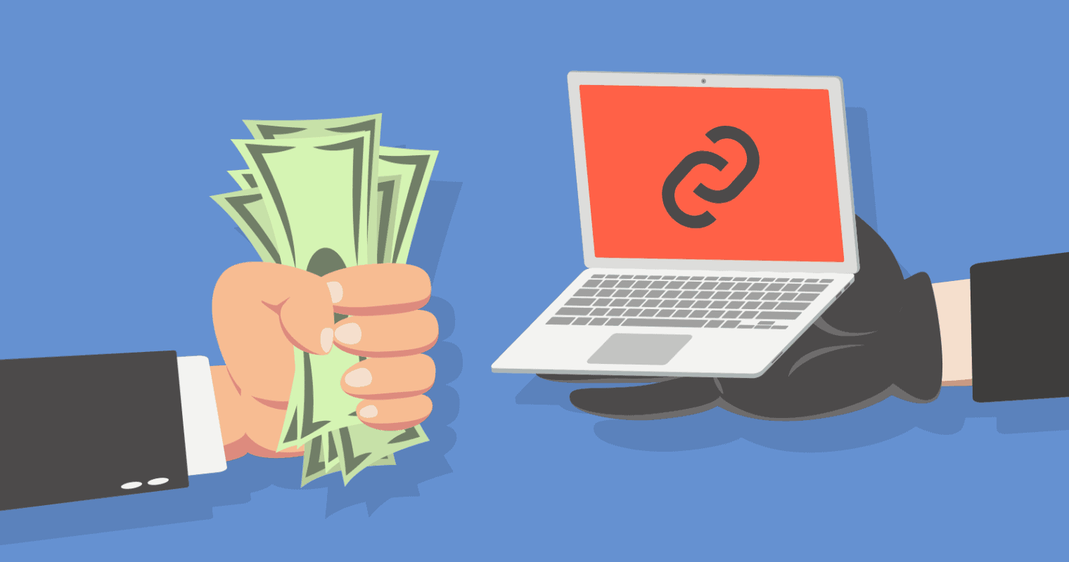 Picture Showing Dollars and a link on a laptop sign on a laptop. Source Search Engine Journal. For Article on Rank Higher By Web Worx Labs